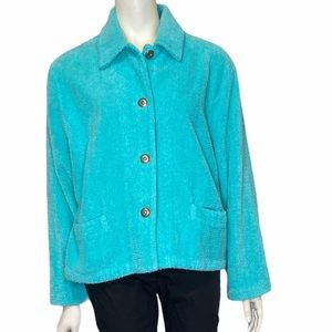 MIKE & TOD Vintage Turquoise Terry Silk Jacket XL